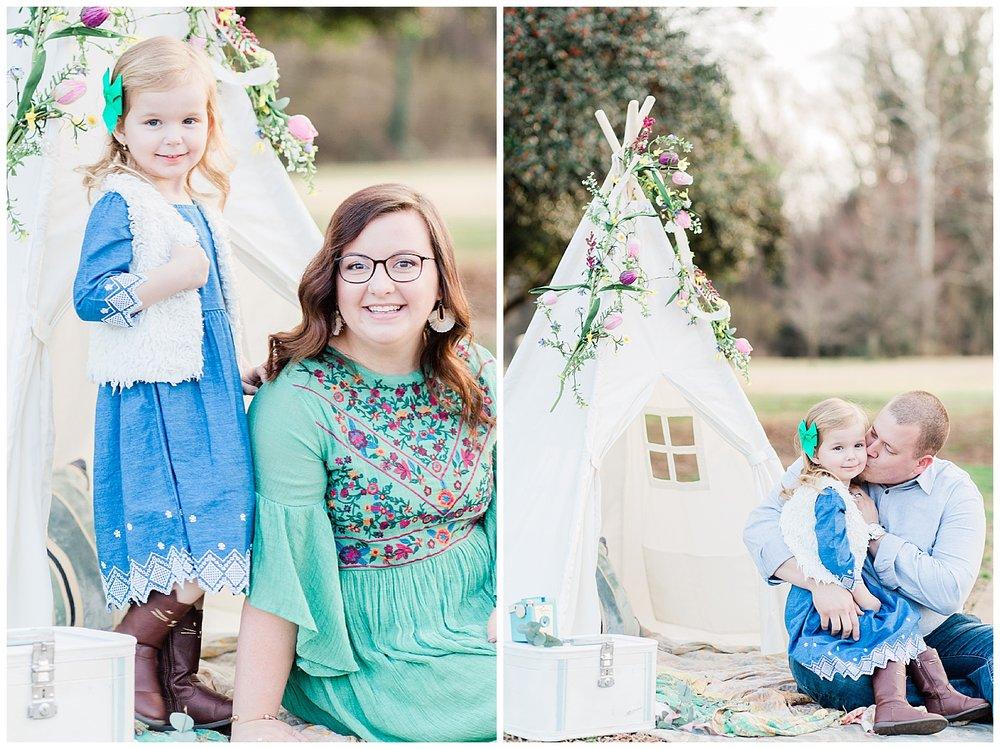 Teepee family photos - Richmond, Virginia