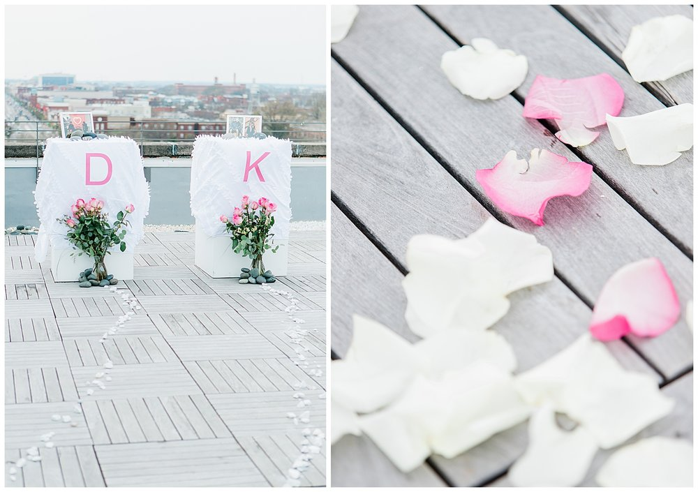 Quirk Hotel Rooftop Surprise Proposal - Virginia Wedding Photographer
