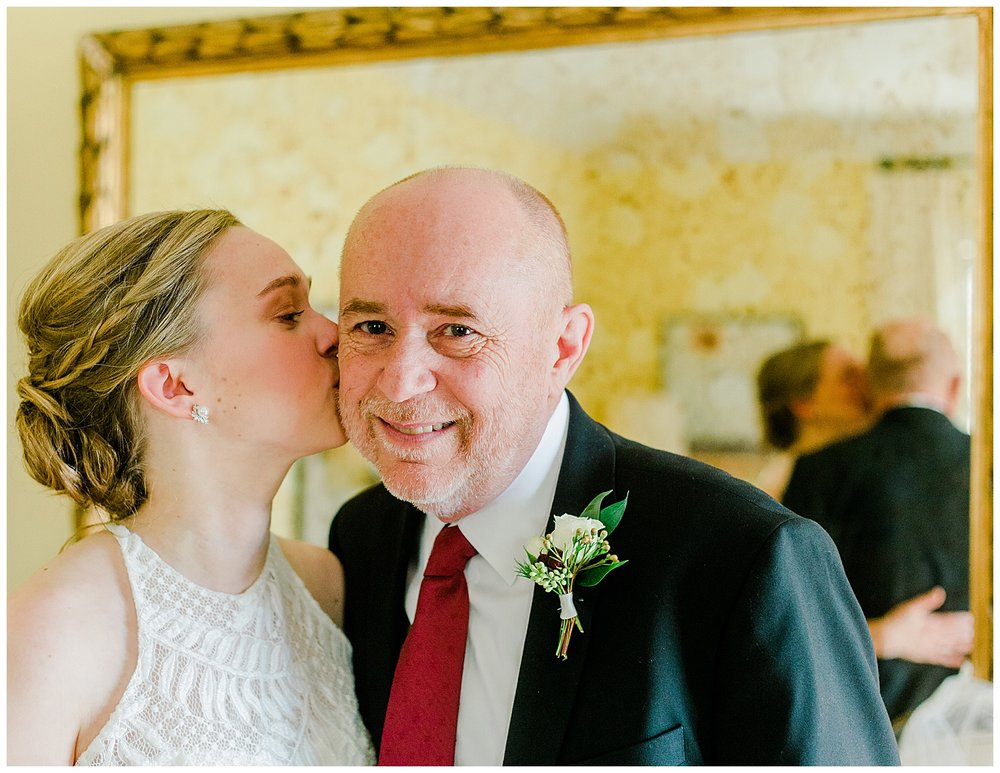 Early Mountain Vineyards Wedding -Daddy Daughter First Look