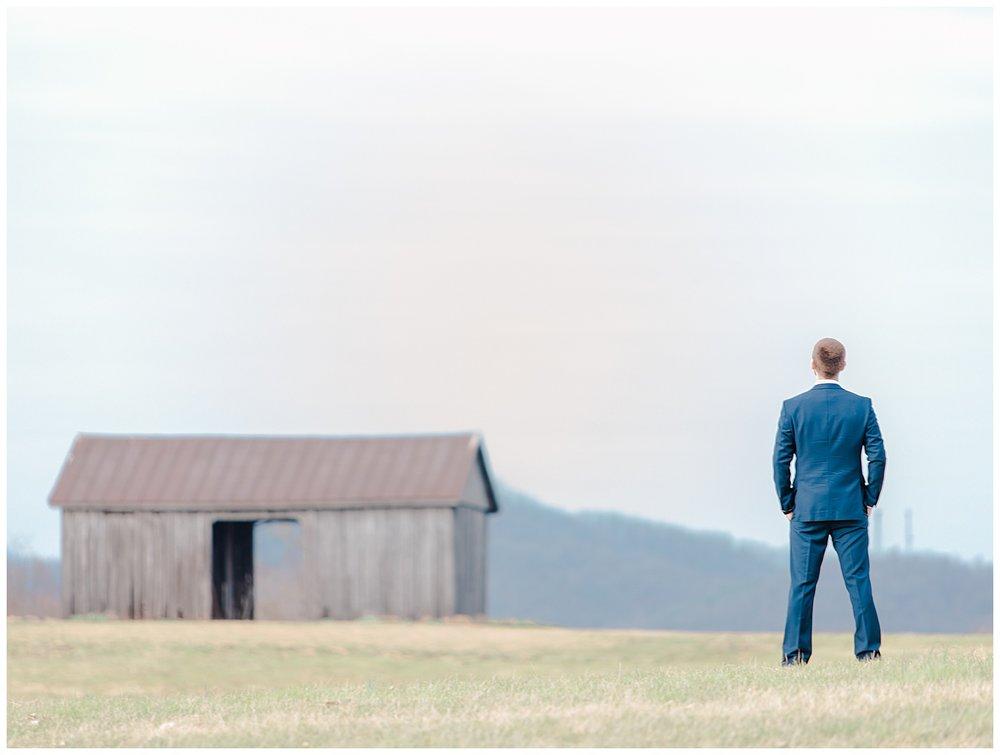 Early Mountain Wedding Vineyards First Look - Charlottesville, VA