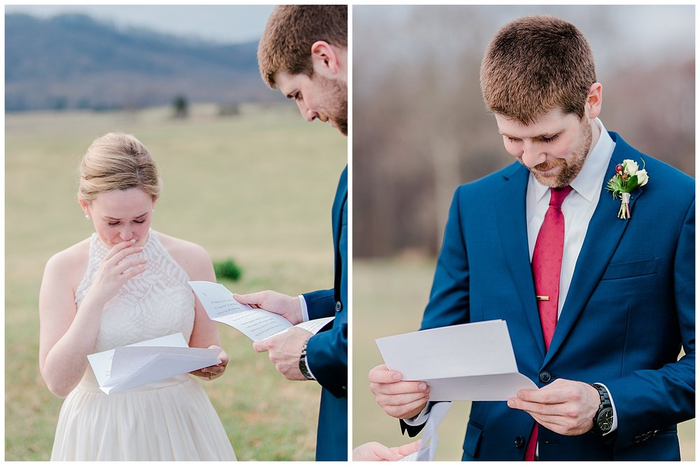 Early Mountain  Vineyards Wedding First Look - Charlottesville, VA