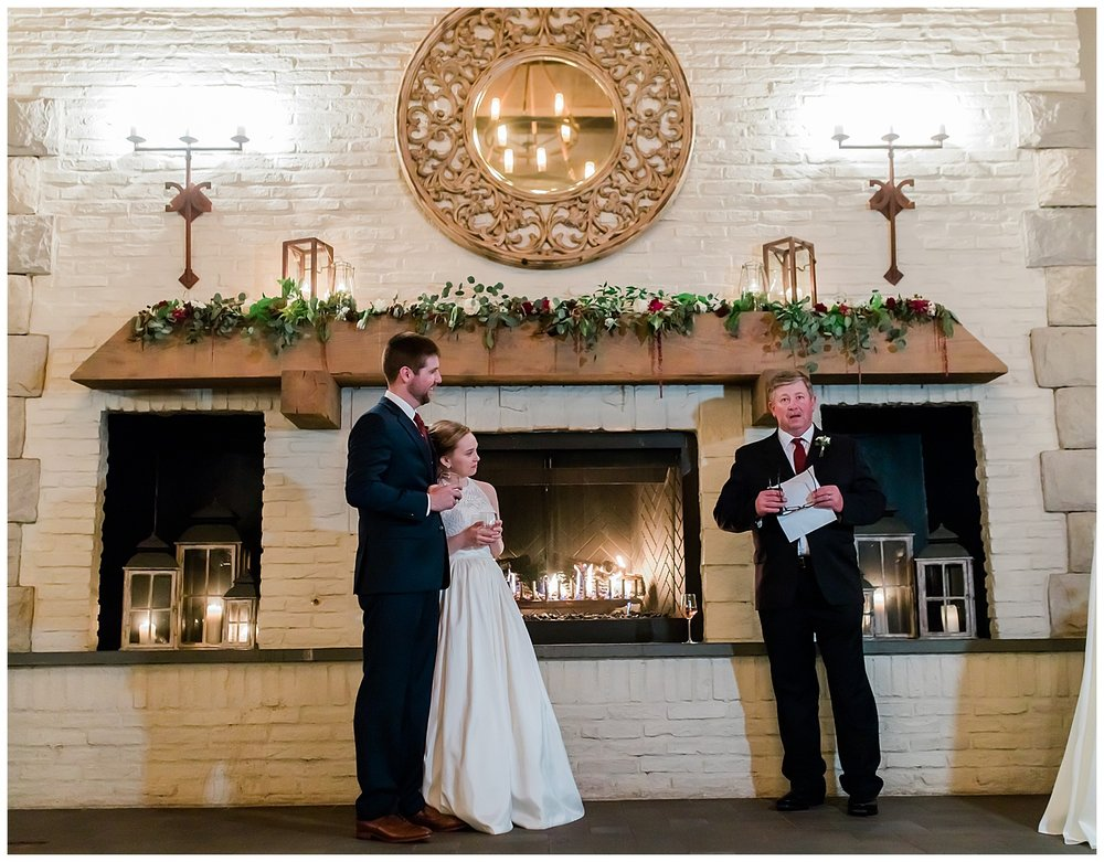 Early Mountain Vineyards Wedding Reception Toasts - Charlottesville, VA