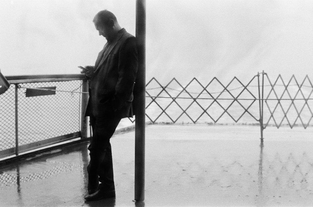 Man on Staten Island Ferry.   New York City. 2016.
