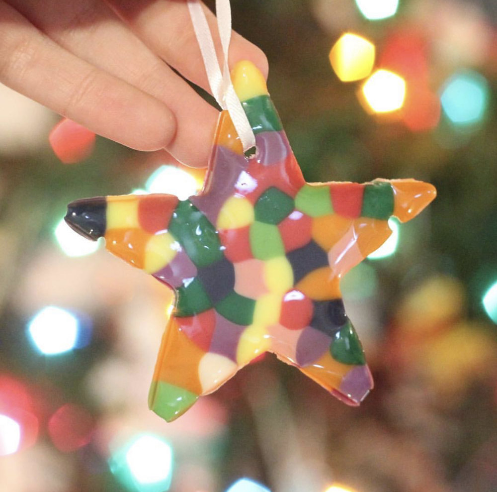 "Copy of ""We made three ornaments from the beads that came in our kit!"" —Kayla, homeschool mom"