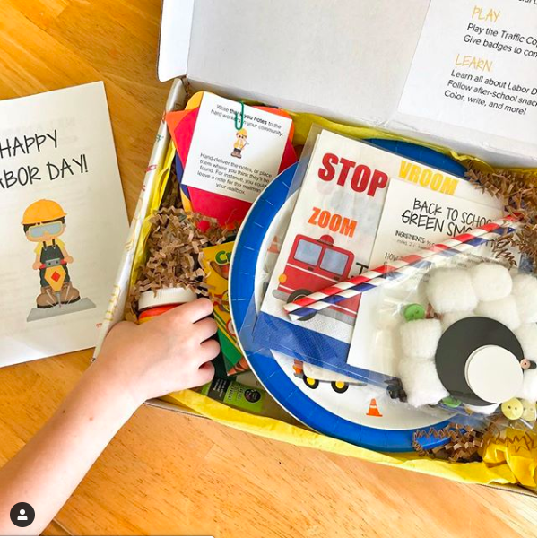 "Copy of ""This box was SO much fun to get and jam packed full of great crafts, activities, snack ideas, information, and MORE! We loved it!"" —Carla, homeschool mom"