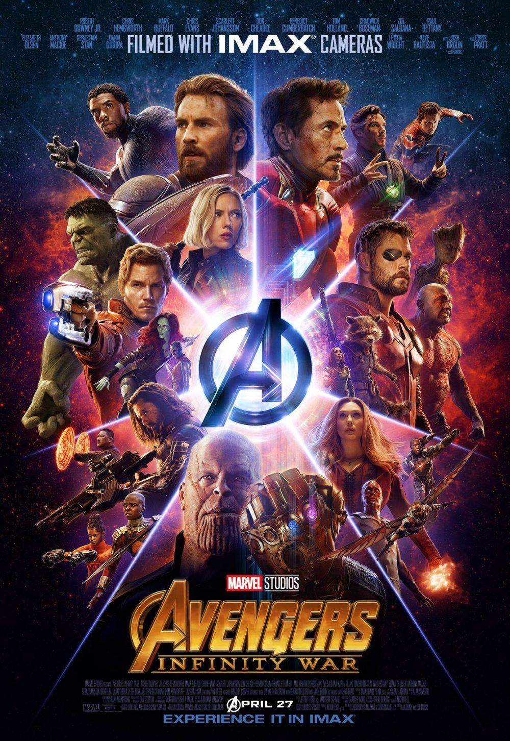 7. Avengers: Infinity War - dir. Joe & Anthony Russo