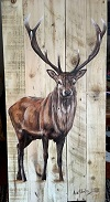 Option 1 -Full body stag.  Image shown with natural wood background.