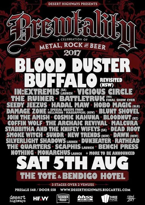 Blood Duster headline Brewtality