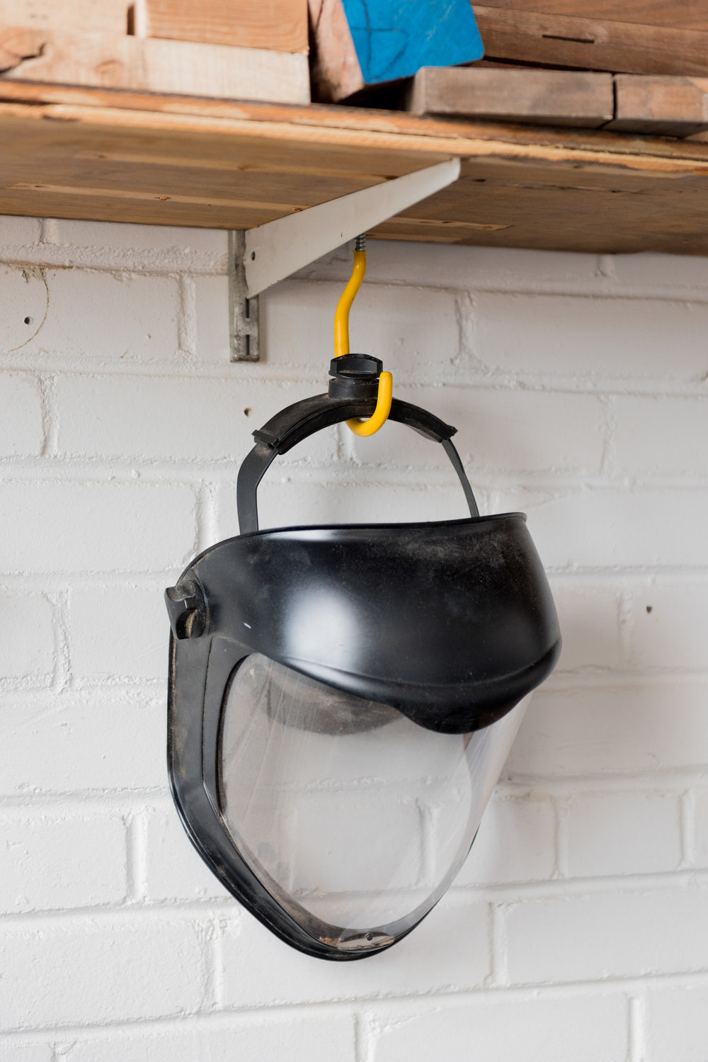 The face shield. This is very important when you are turning wood at 3000 RPM
