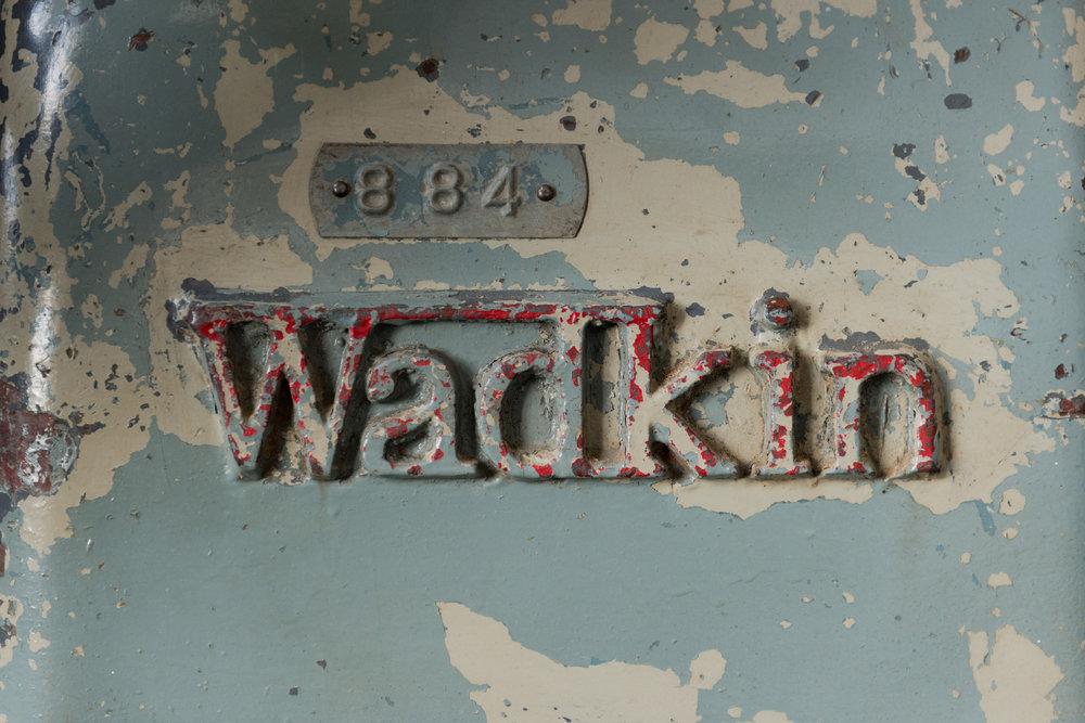 The mighty Wadkin lathe.