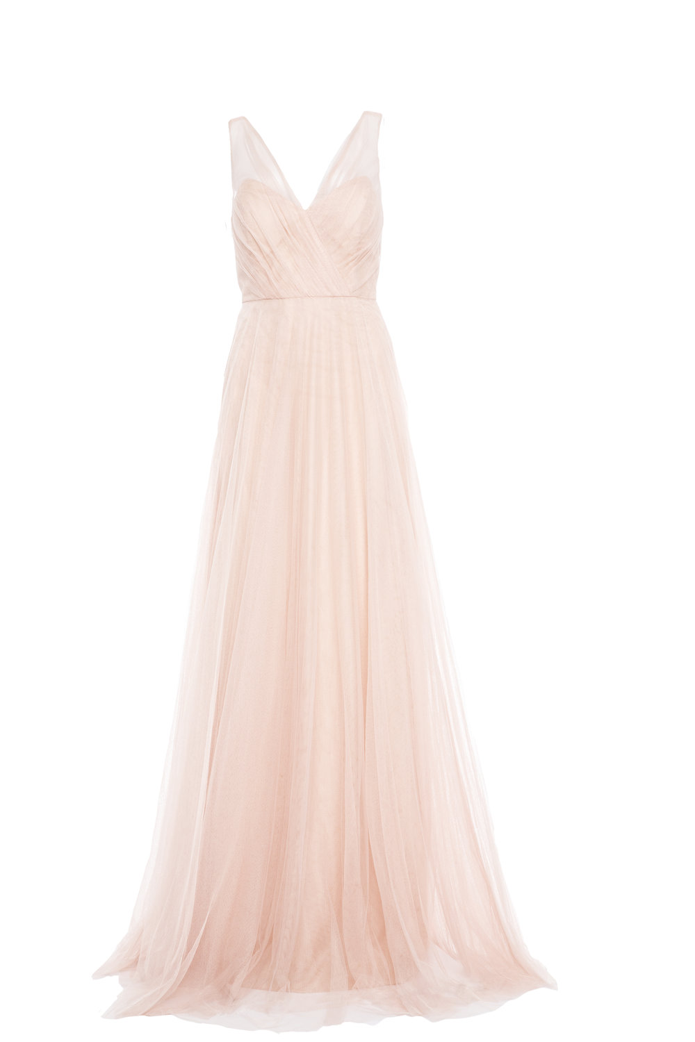 Jenny Yoo Emelie (No Applique) Cameo Pink Soft Tulle