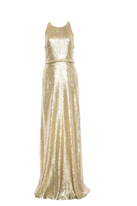 Jenny Yoo Sloane Glam Gold Sequin