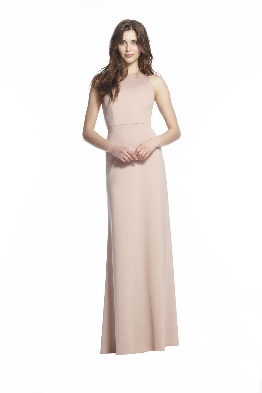 Monique Lhuillier 450505 Blush Stretch Crepe