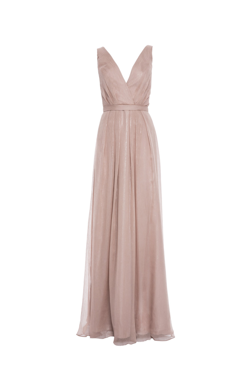 Monique Lhuillier 450476 Rose Metallic Chiffon