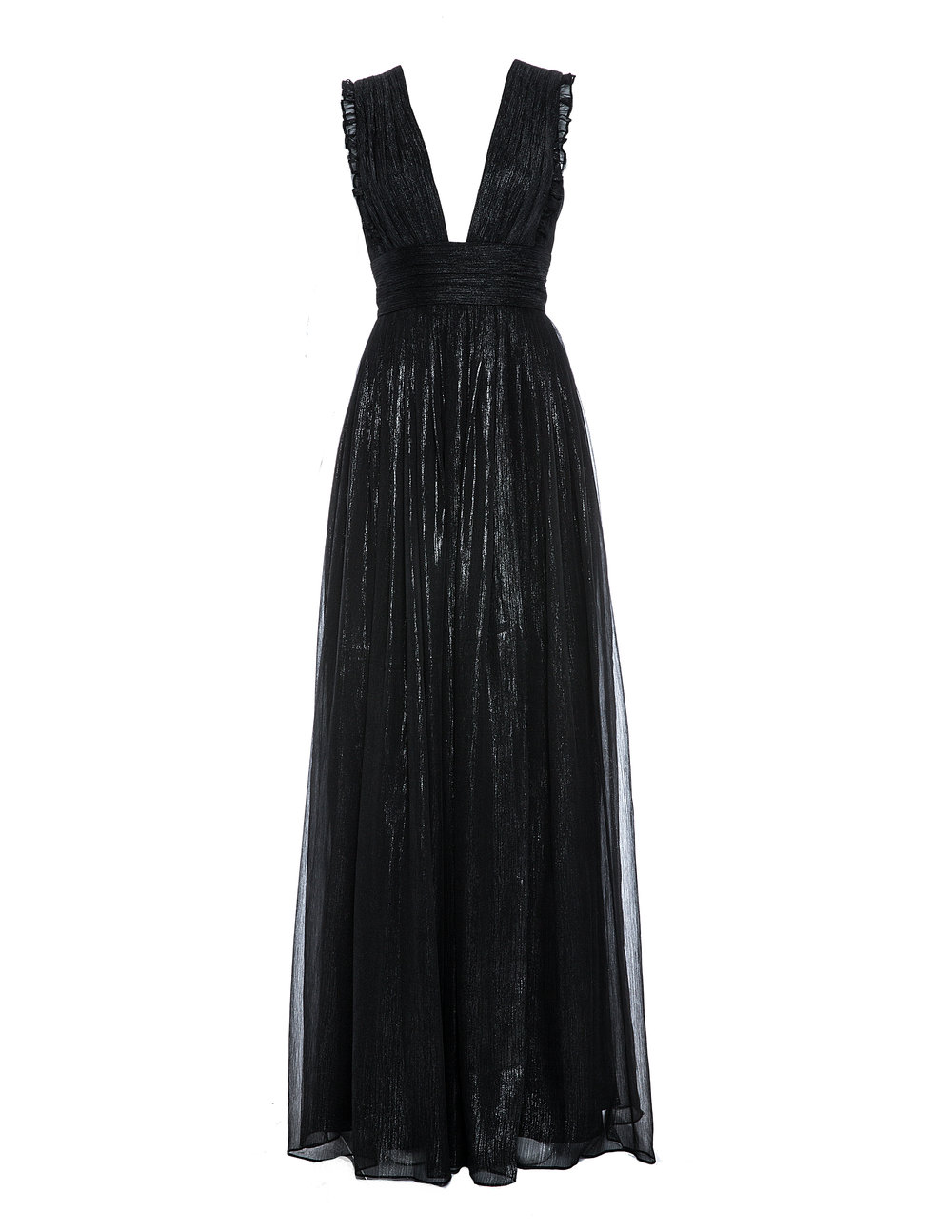 Monique Lhuillier 450425 Charcoal Metallic Chiffon