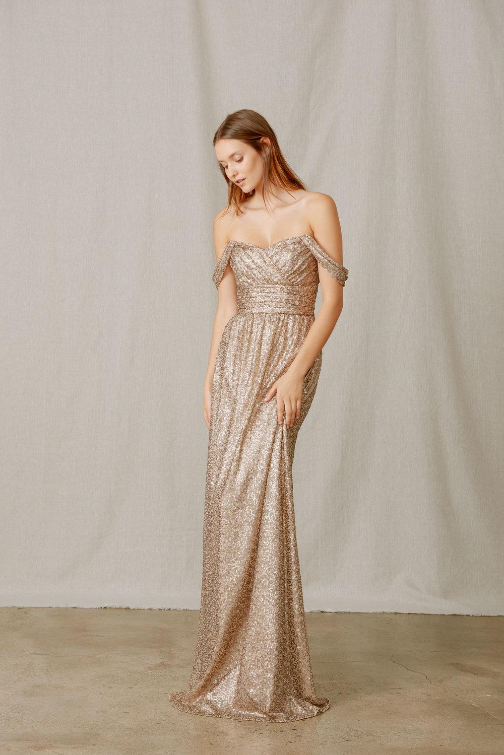 Amsale Faye GB038Q Sequin $435