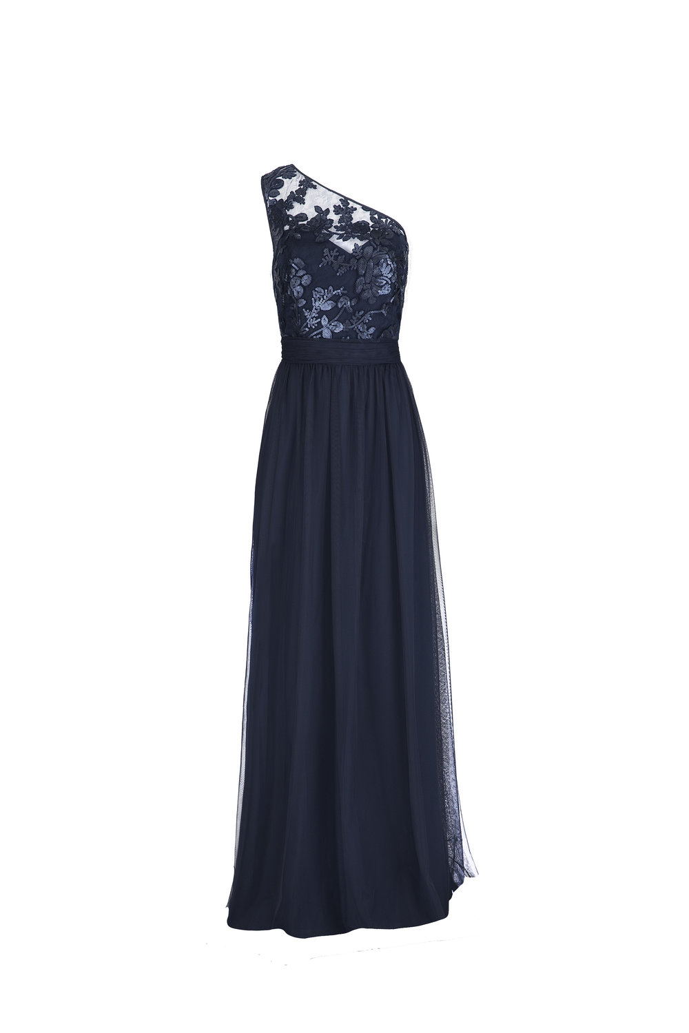Copy of Amsale Ashlynn GB040 Navy Sequin Lace