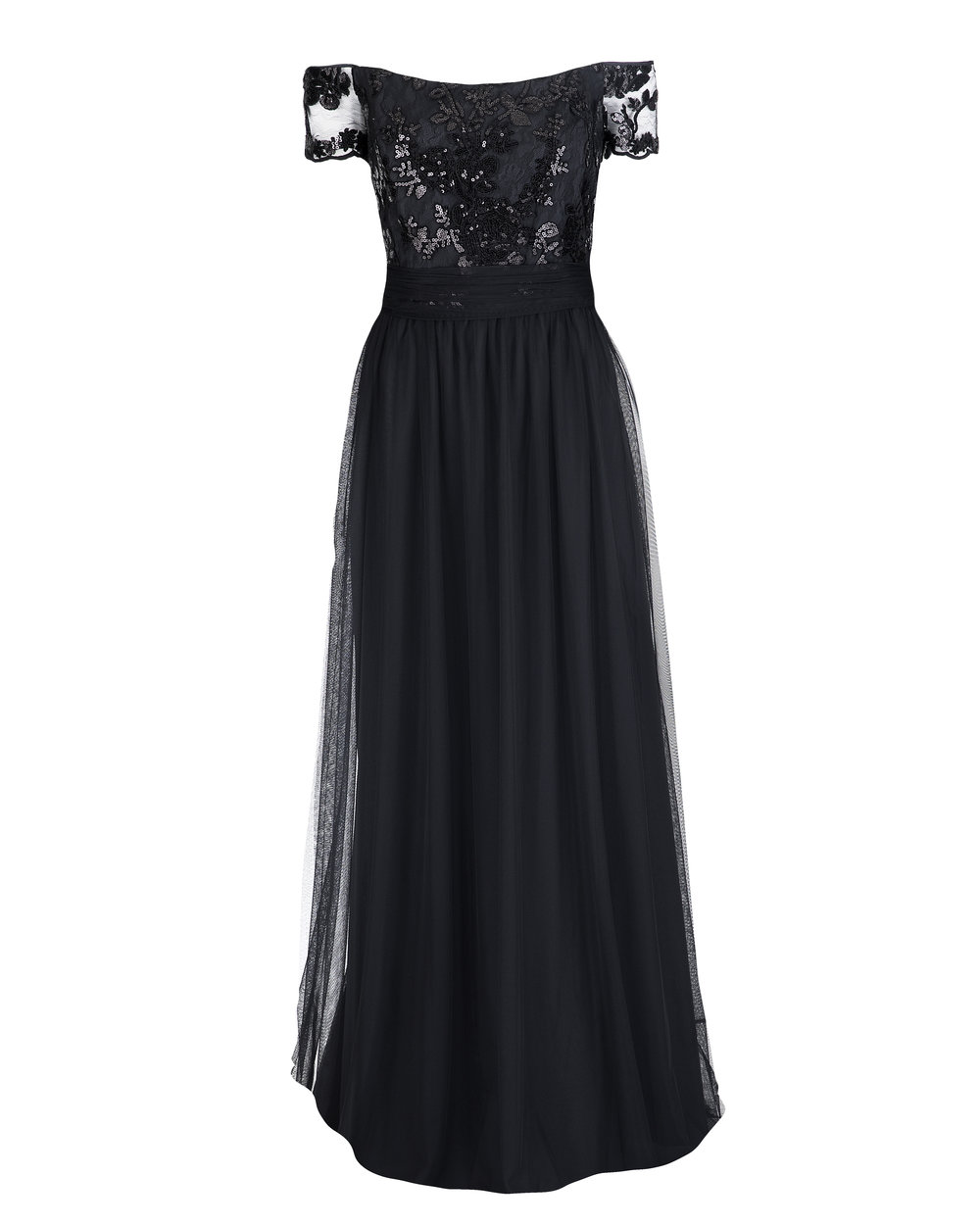 Amsale Ireland GB039 Black Sequin Lace