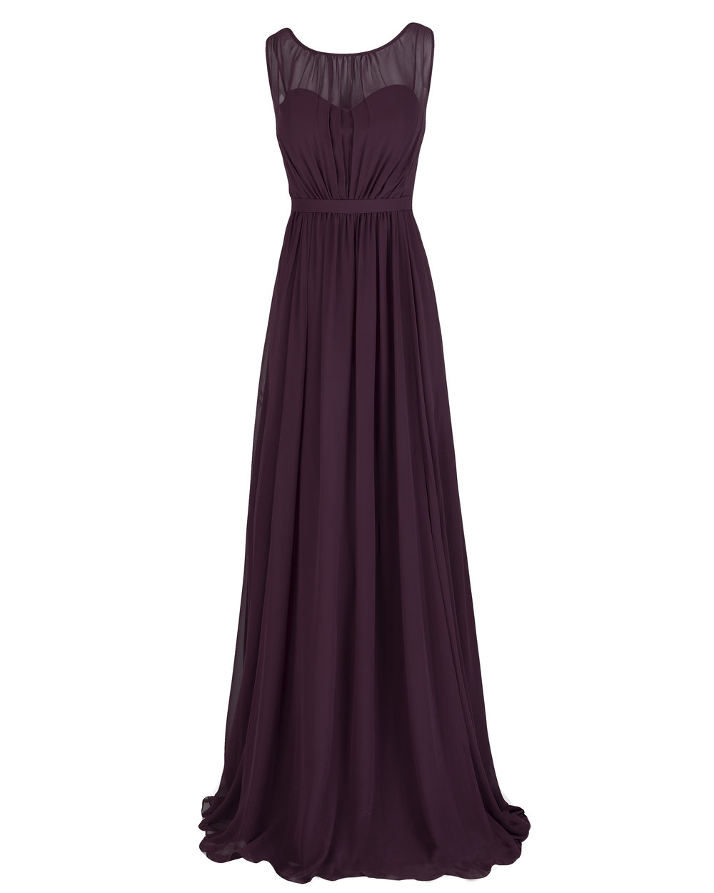 Jenny Yoo Vivienne Blackcurrant Luxe Chiffon