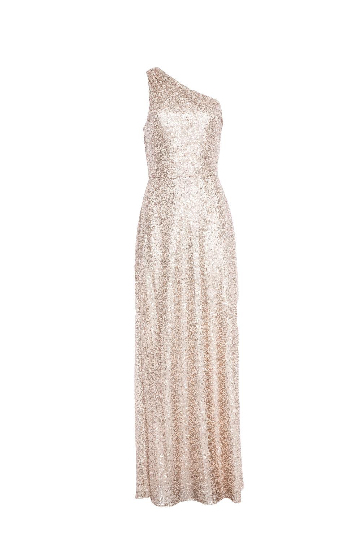 Amsale Leona G976Q Rose-Gold Sequin
