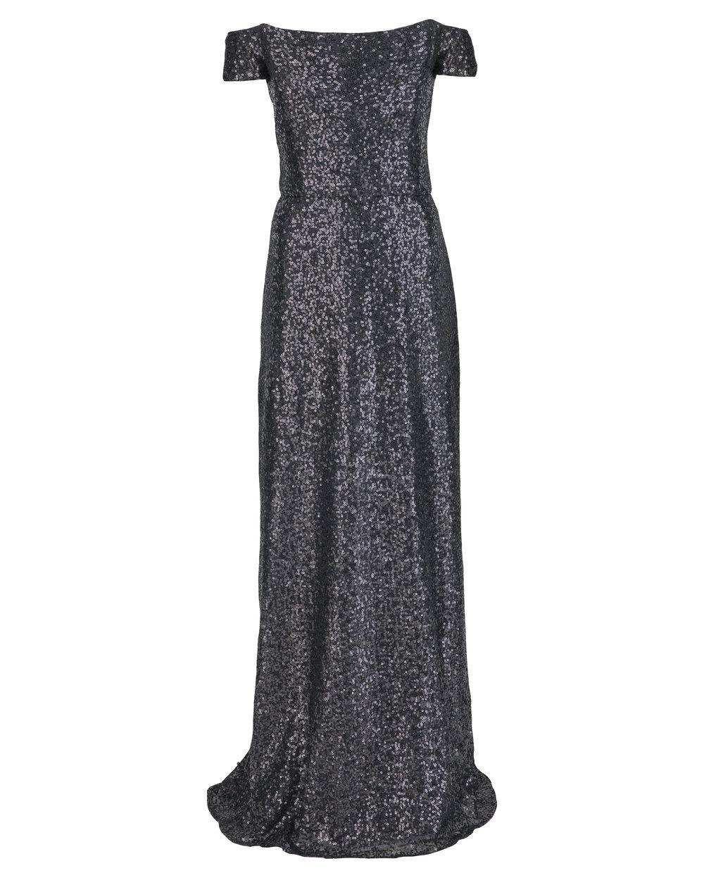Amsale Sian GB036Q Black Sequin