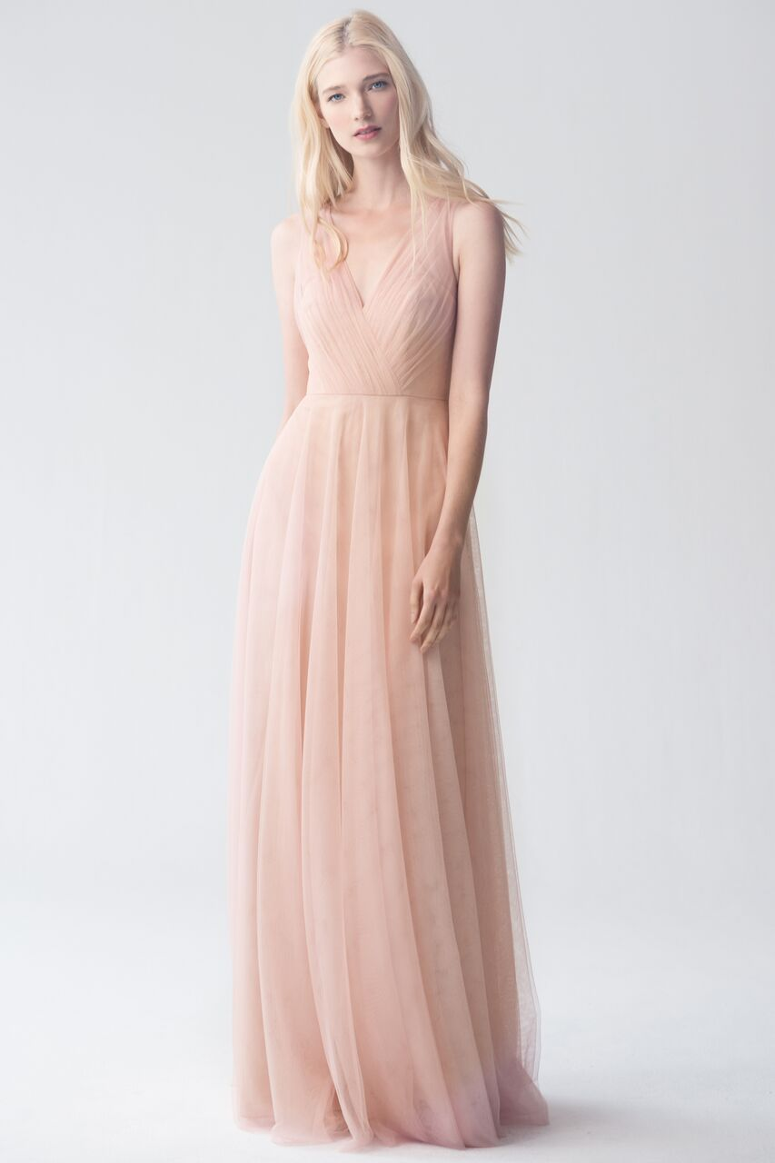 Jenny Yoo Emelie Cameo Pink Soft Tulle