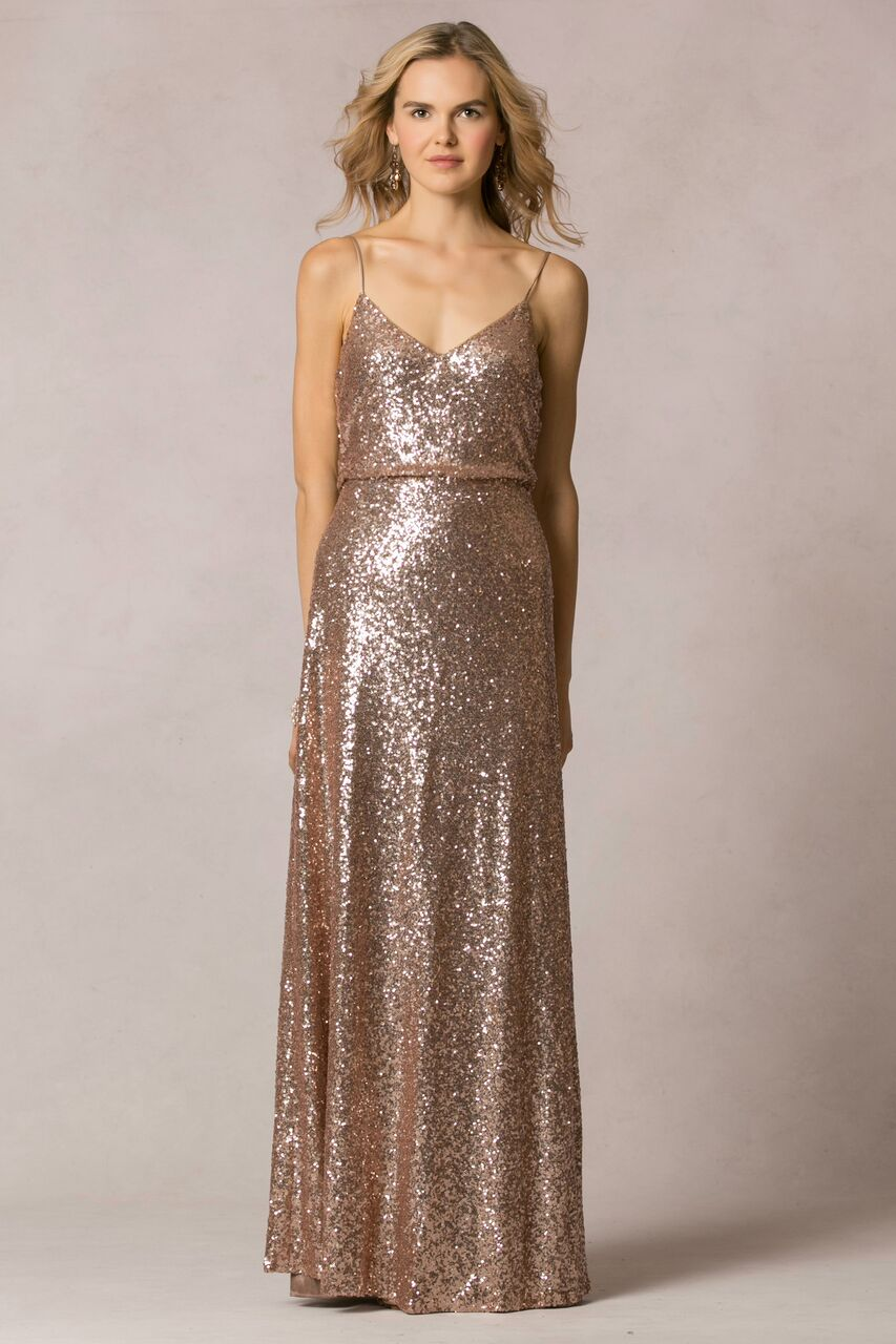 Jenny Yoo Jules Glam Gold Sequin $415