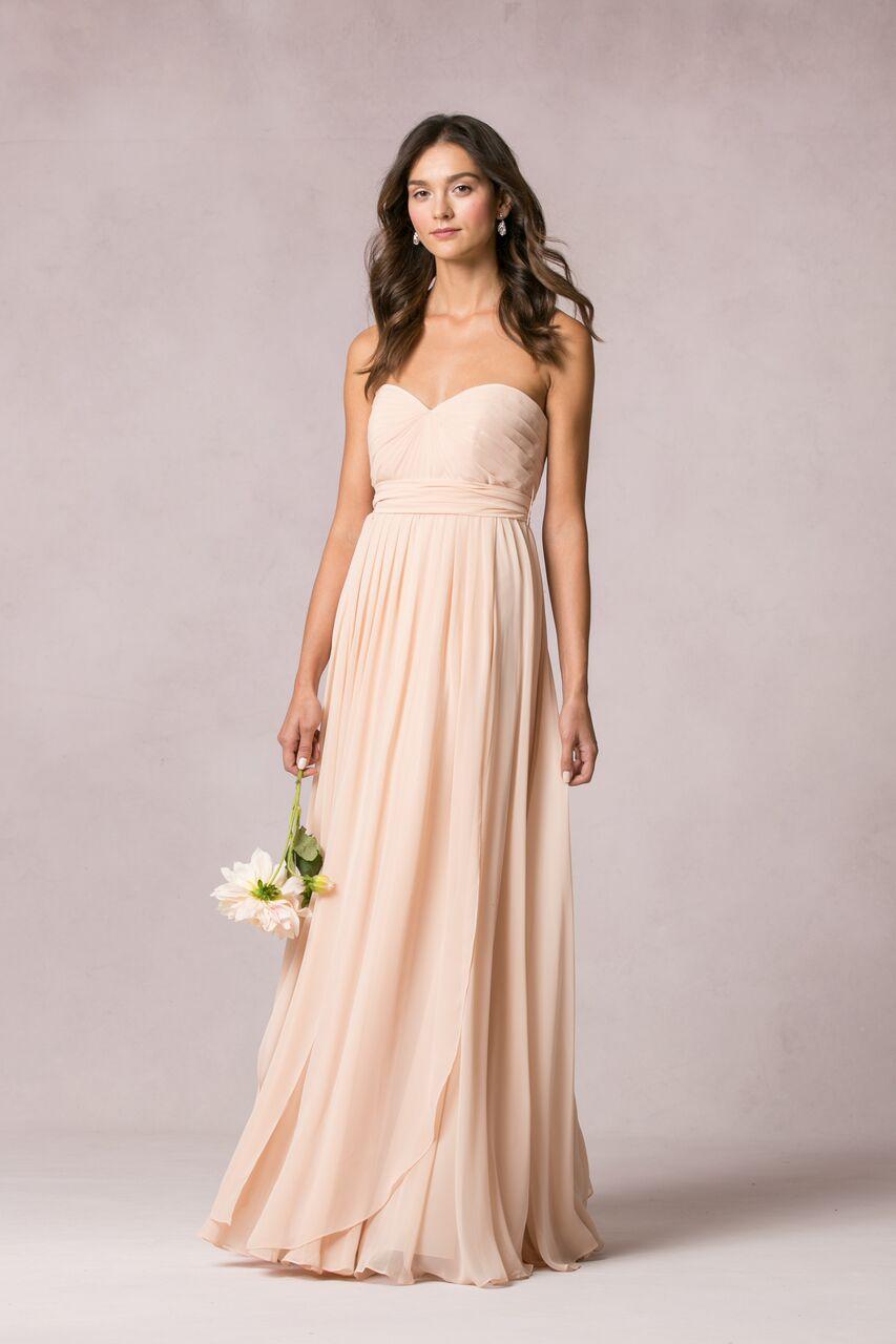 Jenny Yoo Mira blush luxe chiffon $415