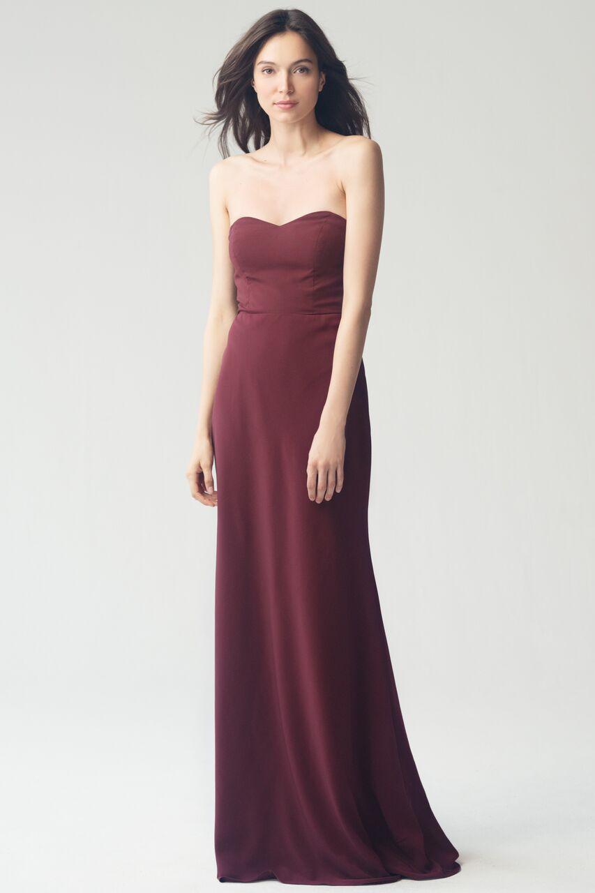 Jenny Yoo Kylie Cinnamon Rose Crepe De Chine $400