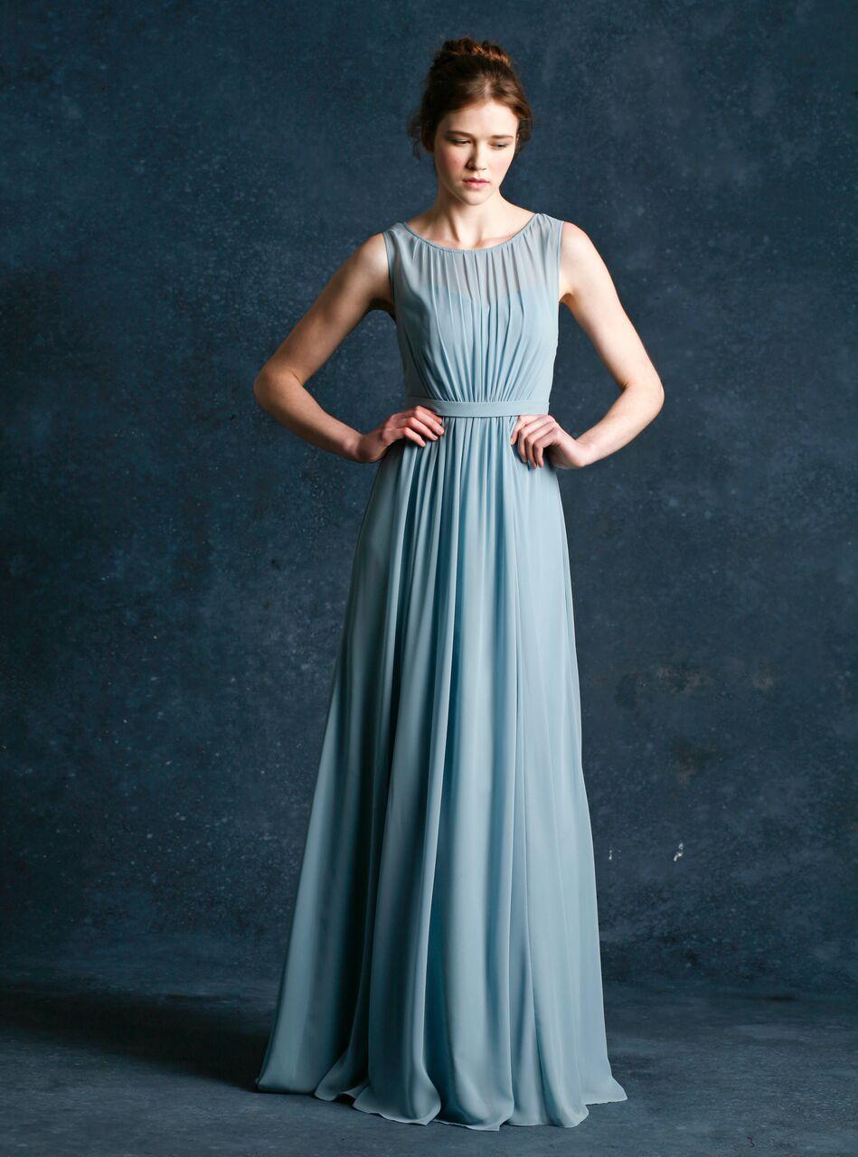 Jenny Yoo Vivienne Ciel Blue Luxe Chiffon