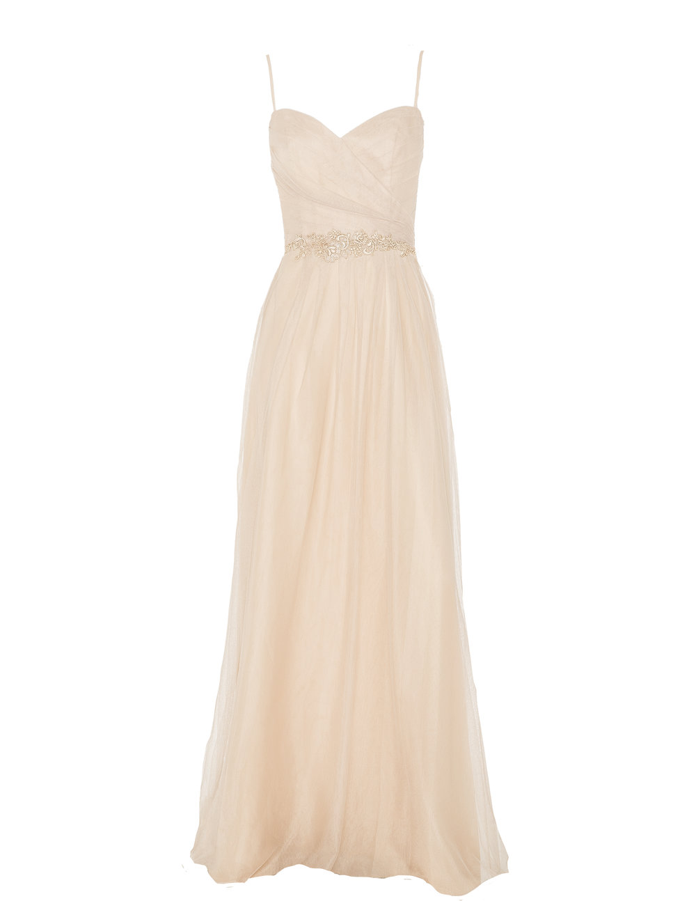 Monique Lhuillier 450503 Sand Tulle