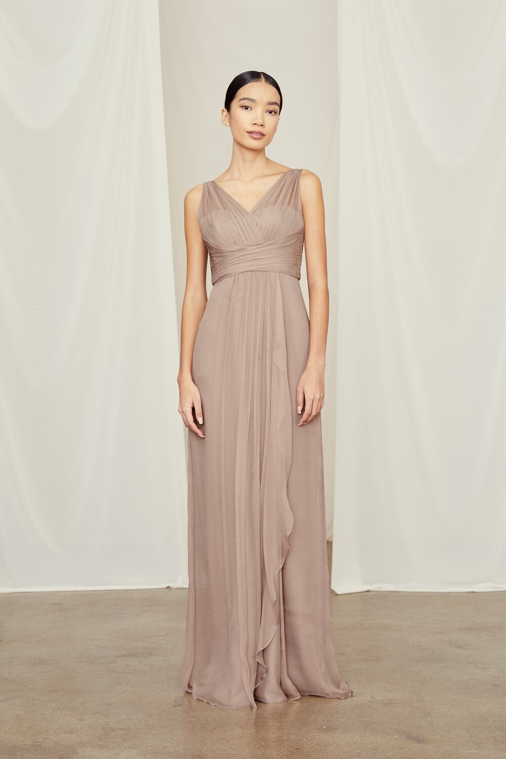 Amsale G783C Silk Chiffon — The Bridesmaid Studio