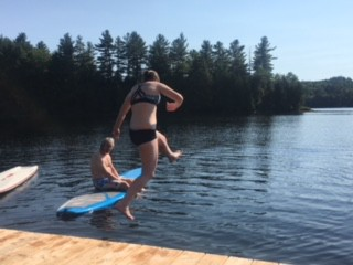 Countless jumping competitions off the dock into the cool water.