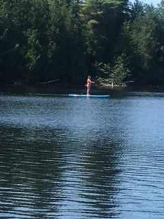 A remedy for the soul—an hour on a paddle board in the wildnerness.