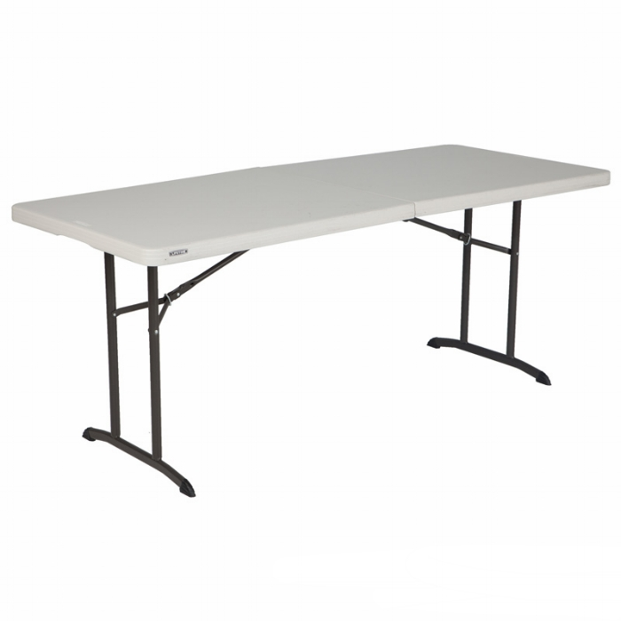 6FT FOLDING TABLE - Dimensions: 735(H) x 1829(W) x 762(D)mmMaterial: High Density Polyethylene Top and Steel Frame and Legs