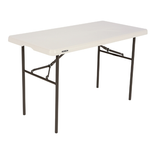 4FT FOLDING TABLE  - Dimensions: 738(H) x 1224(W) x 609(D)mmMaterial: High Density Polyethylene Top and Steel Frame and Legs