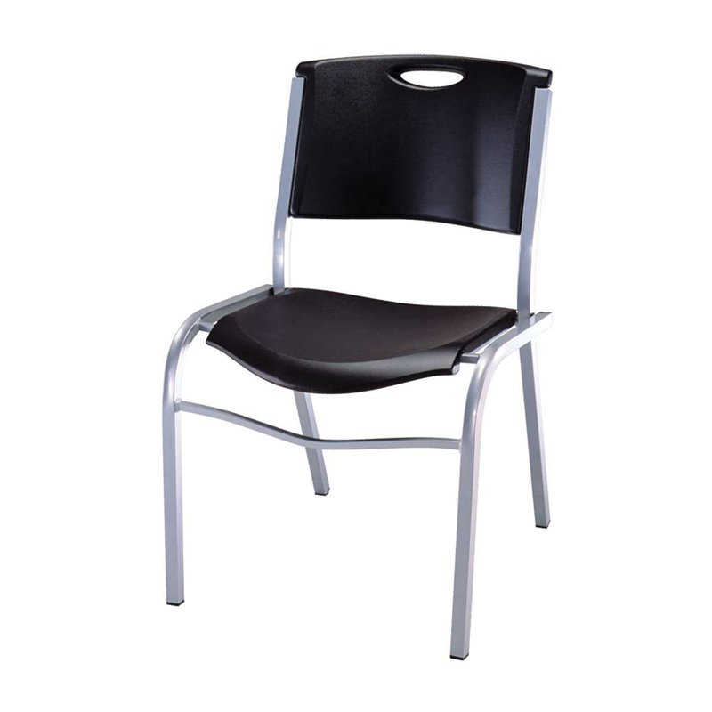 STACKABLE CHAIR - Dimensions: 558(L) x 508(W) x 826(H) mmMaterial: Powder-Coated Steel