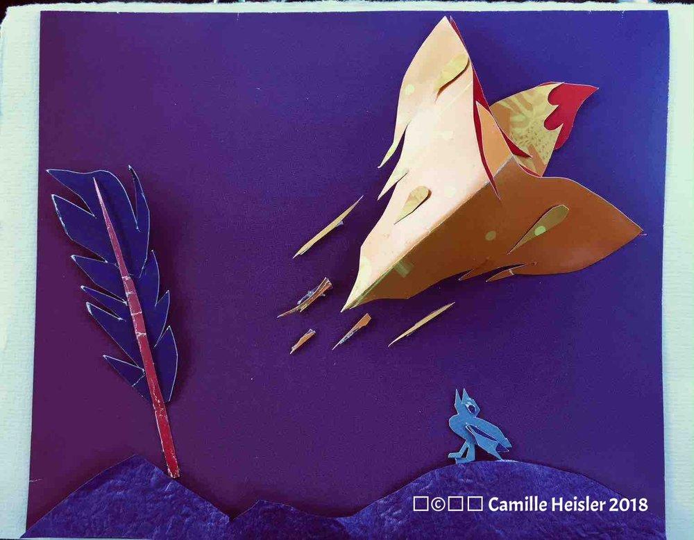 Rocketship card