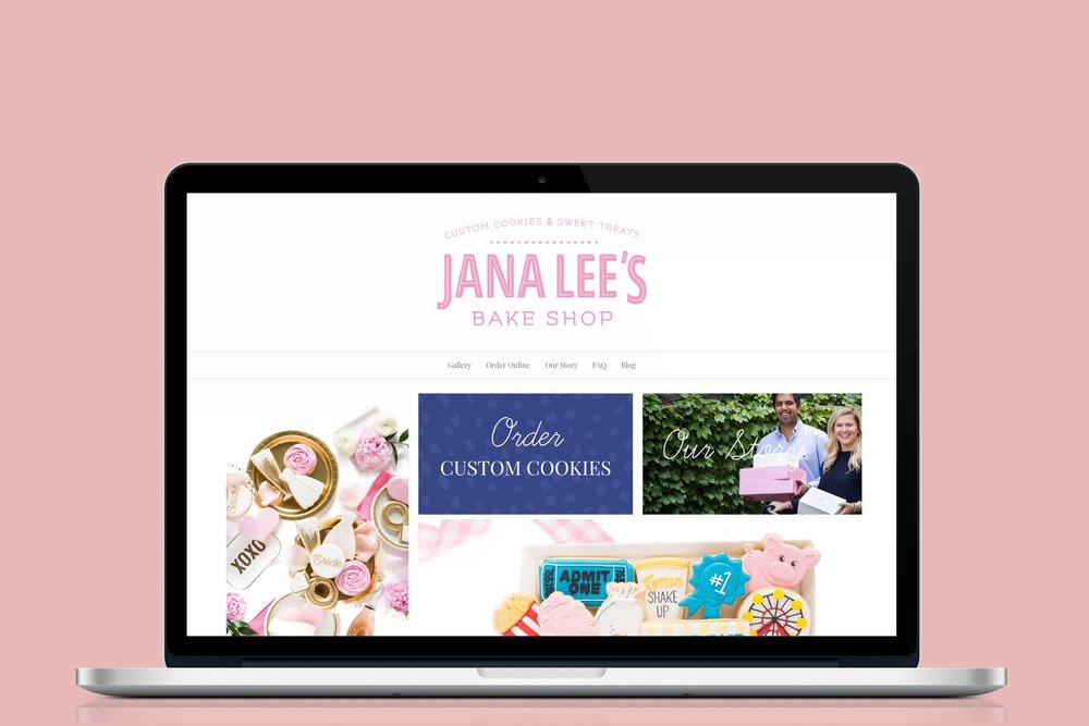 Jana Lee's Bake Shop Website Design