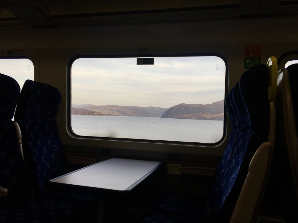 On the train to the Isle of Skye