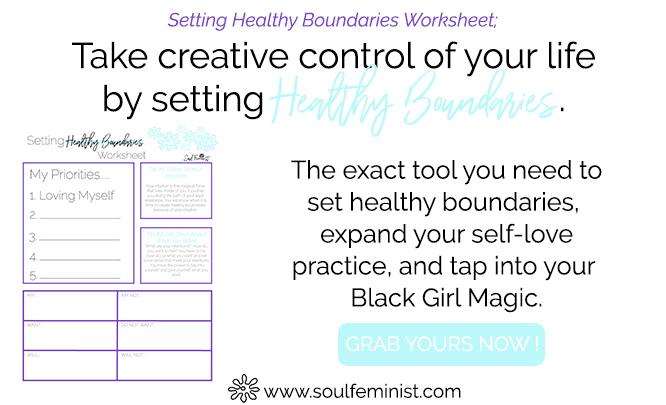 Setting Healthy Boundaries Worksheet