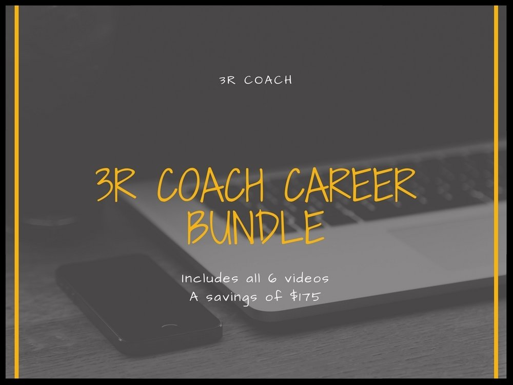 Purchase all 6 Coaching Videos & Save $175! -  Get 3 hours of valuable coaching strategies! You'll have access for 30 days to view at your own pace and as often as needed. Includes module notes for all 6 presentations & a total of 17 attachments for $279.