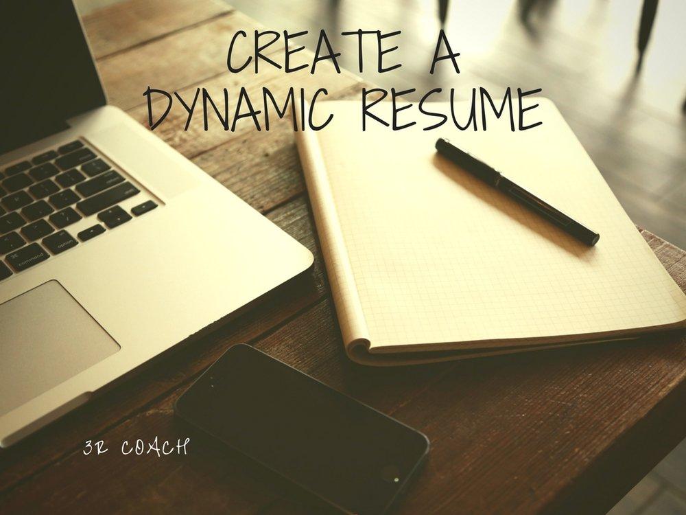 Create a dynamic resume.jpg