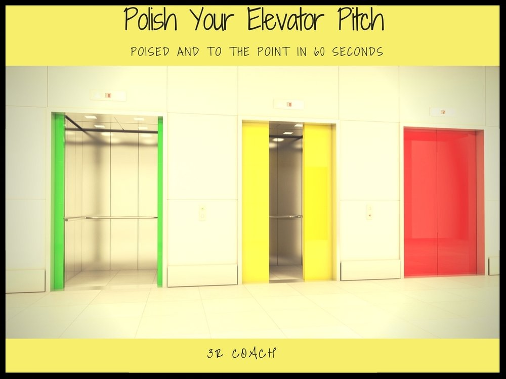 Polish Your Pitch - You will learn:What an Elevator Pitch is and why you needHow to be poised and to the point in 60 secondsWhy it is important to your Interviewing & Networking strategyHow to never stumble through the