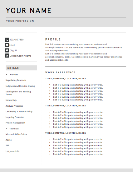 2 Page Template B -
