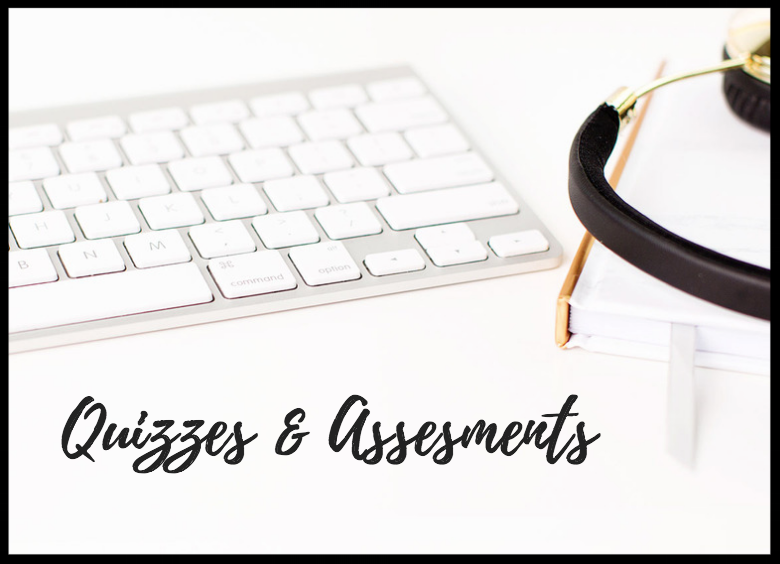 Quizzes & Assessments - Take personality assessments and fun quizzes to help you identify your skills & talents.