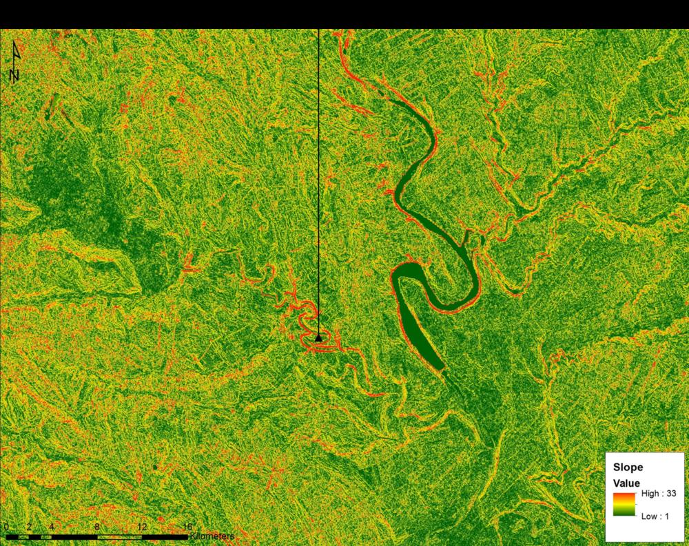 Slope Model of the Orheiul Vechi, Moldova, Region