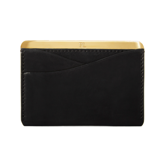 A transatlantic statement  - Enter 2018 in style with the No. 25 cardholder from Passavant and Lee. Designed in New York and hand made in London, this luxurious leather statement piece holds cards and bills, all protected by a gold-plated or silver spine.£195 from Passavant and Lee