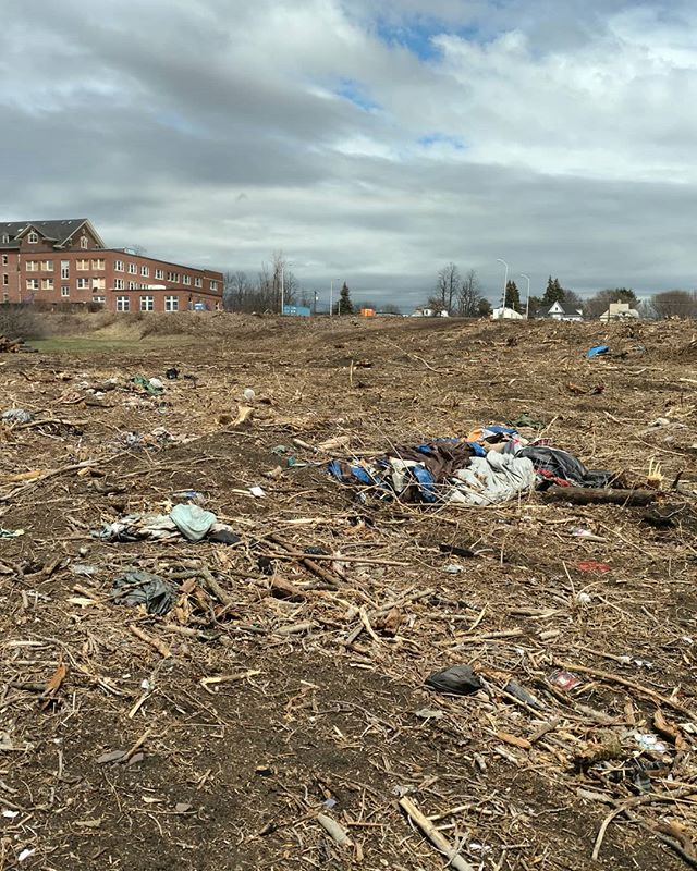 . Rest In Peace Old Vermont grounds. Looks like a tornado hit the place. :( #burlingtoncollege #newnorthend #bad #destruction #for #more #7 #years #photography #stevesharonart #metaldetecting #nomore #btv #vt #stormy #times