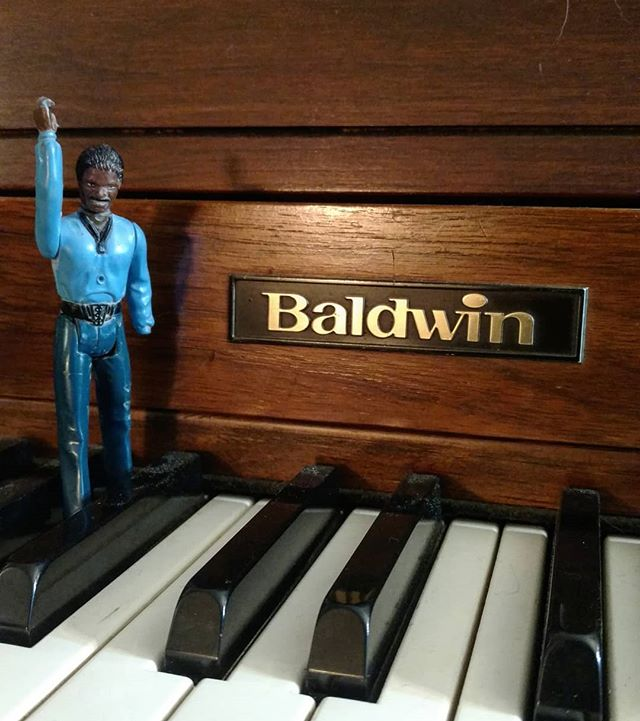 Lando approves!! He needs more friends for his adventures!  #adventuresoflando #starwars #music #piano #baldwin #art #stevesharonart #photography
